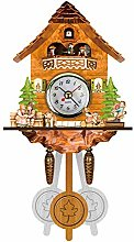 WQEM Forest Cuckoo Clock Retro Nordic Style Wooden