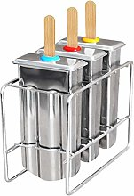WQERLC Ice Lolly Mould,Set of 3 Reusable Stainless