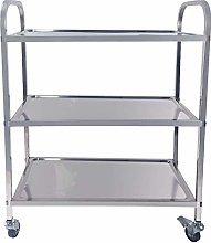 WQERLC Stainless Steel Storage Trolley Cart for