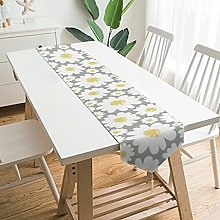 Wraill Funny Plush Table Runner White Yellow