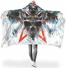 Wraill Hooded Blanket Cooler Skull Head Hooded