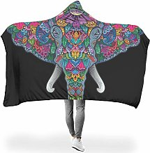 Wraill Hoodies Blanket Plant Flower Elephant Head