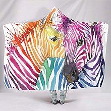 Wraill Hoodies Blanket Zebra Couple Animals Hooded