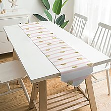 Wraill Palatial Plush Table Runner Pink Stripes