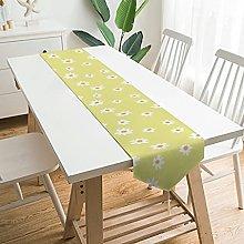 Wraill Wonderful Plush Table Runner Flowers Yellow