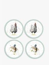 Wrendale Designs Duck and Chicken Round Coaster,