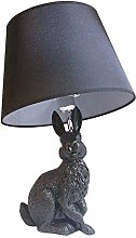 WRISCG Table Lamp Lamp Black Rabbit Table Lamp 35