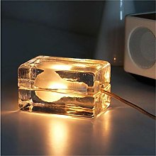WRISCG Table Lamp Lamp Modern Glass Ice Table Lamp