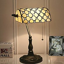 WRISCG Table Lamp Lamp Tiffany Style Vintage Desk
