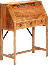 Writing Desk 90x40x107cm Solid Acacia Wood - Brown