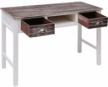 Writing Desk Brown 110x45x76 cm Wood QAH24695 -