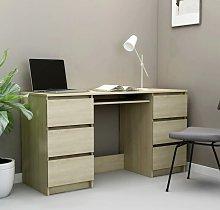 Writing Desk Sonoma Oak 140x50x77 cm Chipboard