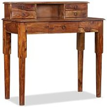 Writing Desk with 5 Drawers Solid Sheesham Wood