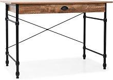 Writing Desk with Drawer 110x55x75 cm Oak