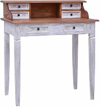 Writing Desk with Drawers 90x50x101 cm Solid