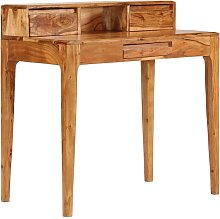 Writing Desk with Drawers Solid Wood 88x50x90 cm -