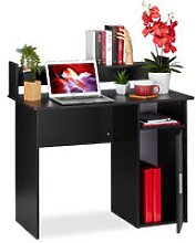 Writing Desk with Storage Space, Side Compartment