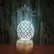 WRJ Nightclub Pineapple Lights 3D, for Kids Color