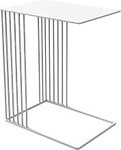 Wrought Iron C-shaped Side Table, Stylish Accent