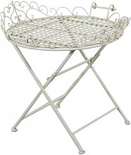 Wrought iron made antiqued white finish W72xDP65