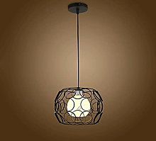 Wrought Iron Pendant Light, Metal Wire Cage