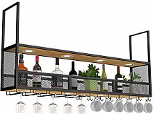 Wrought Iron Wine Rack, Hanging Wine Cabinet,