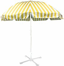 Wsaman 2.4m/7.9ft Garden Parasol Table Umbrella,