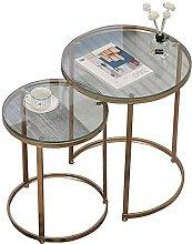 WSHFHDLC coffee table 2 sets of glass coffee table