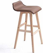 WSHFHDLC Wood bar stool bar chair simple retro bar