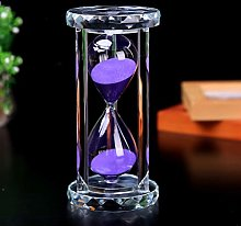 WSHLU Transparent Crystal Hourglass Timer Sand