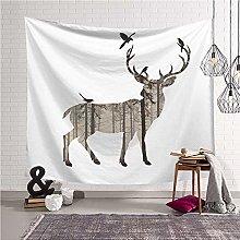 WSJIJY Tapestry Wall Hangings,Animal Elk Print