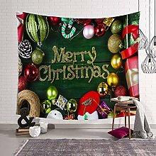 WSJIJY Tapestry Wall Hangings Christmas Print