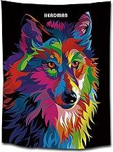WSJIJY Tapestry Wall Hangings,Dog Animal Print