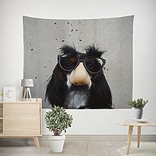 WSJIJY Tapestry Wall Hangings Dog Print Tapestry