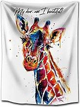 WSJIJY Tapestry Wall Hangings,Giraffe Animal
