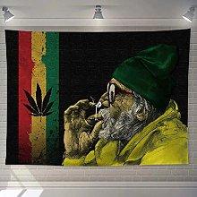 WSJIJY Tapestry Wall Hangings Jamaica Reggae Print