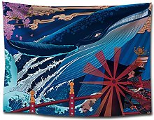WSJIJY Tapestry Wall Hangings Japan Ukiyo-E Print