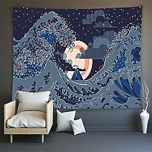 WSJIJY Tapestry Wall Hangings Kanagawa Ukiyoe