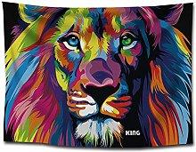 WSJIJY Tapestry Wall Hangings,Lion Animal Print