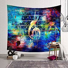 WSJIJY Tapestry Wall Hangings Music Print Tapestry