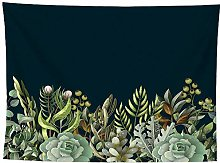 WSJIJY Tapestry Wall Hangings,Plant Print Tapestry