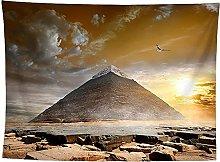 WSJIJY Tapestry Wall Hangings Pyramid Print