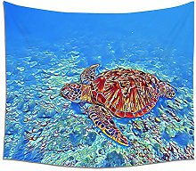 WSJIJY Tapestry Wall Hangings,Sea Animal Print