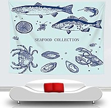 WSJIJY Tapestry Wall Hangings,Sea Animals