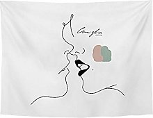 WSJIJY Tapestry Wall Hangings,Simple Kiss