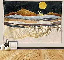 WSJIJY Tapestry Wall Hangings,Sunset Mountain
