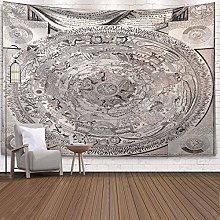 WSJIJY Tapestry Wall Hangings World Map Print
