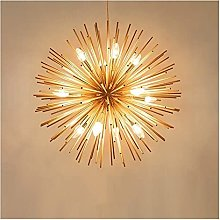 WSJTT Pendant Light LED Gold Fire Ball Ceiling
