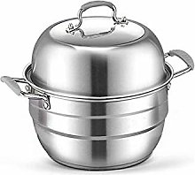 WSJTT Stainless Steel 2 Tier Steamer Pot Steaming