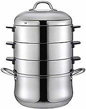 WSJTT Stainless Steel 4-Tier Steamer Cooking